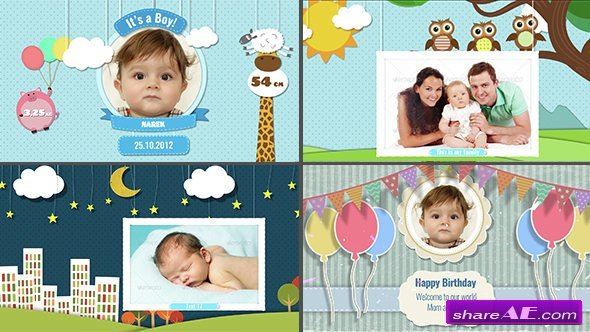 Videohive Baby Photo Album - Birthday