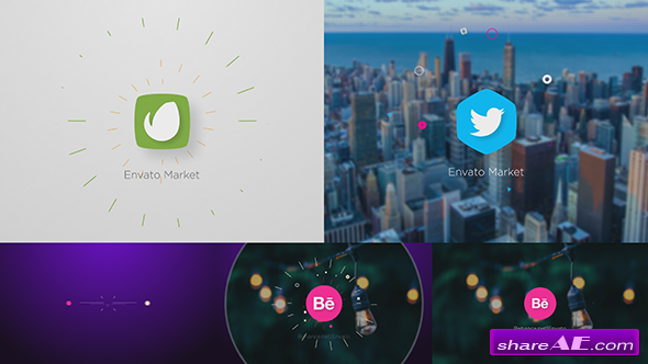 Videohive Dots Connection Logo Reveal