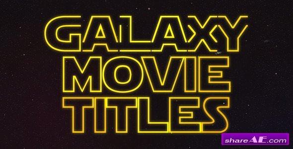Videohive Galaxy Movie Titles