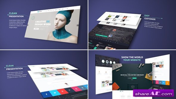 videohive website presentation 19292817 free after effects