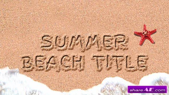 Videohive Sand Title