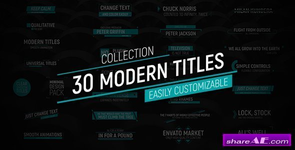 Videohive 30 Modern Titles