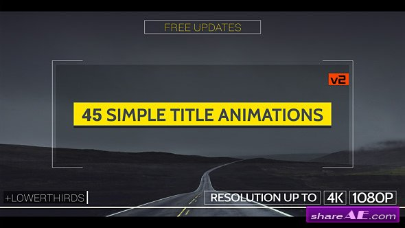 Videohive Simple Titles - v2
