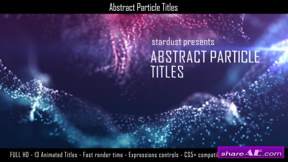 Videohive Abstract Particle Titles