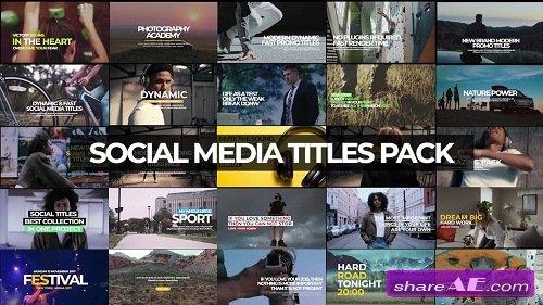 30 Social Media Titles - Premiere Pro Templates