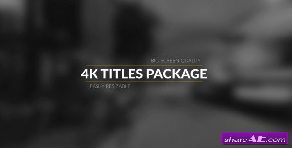Videohive 4k Broadcast Titles Package