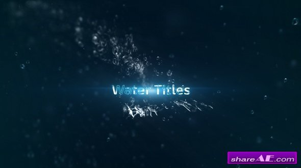 Videohive Water Titles