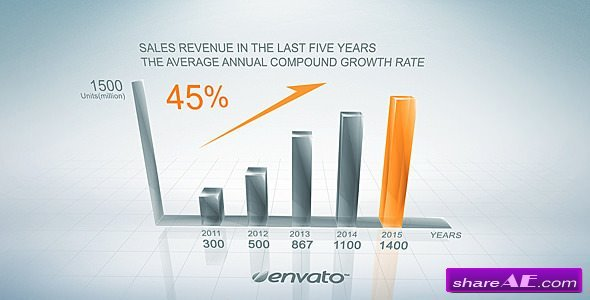 Videohive Clean Growth Chart