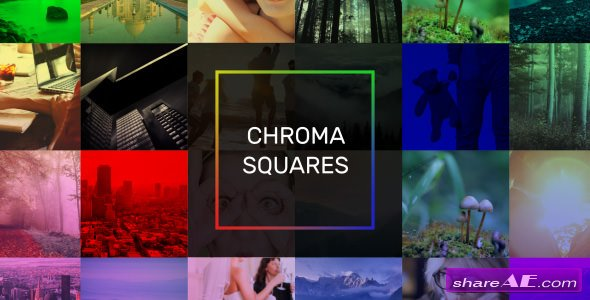 Videohive Chroma Squares Dynamic Slideshow