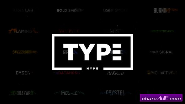 Videohive TypeHype - Titles Animation  Motion Typography Text