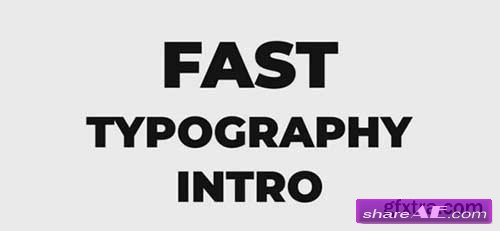 Fast Typography Intro - Premiere Pro Templates