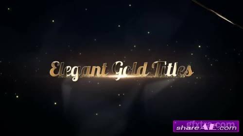 Elegant Gold Titles - Premiere Pro Templates
