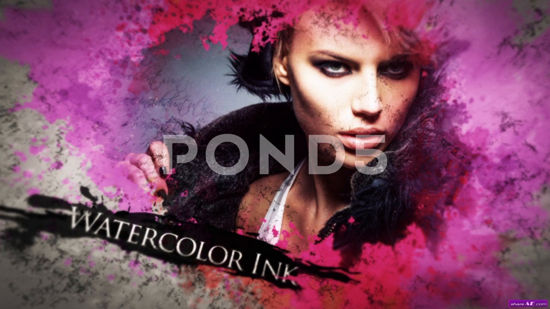 Watercolor Ink Parallax Slideshow - After Effects Templates