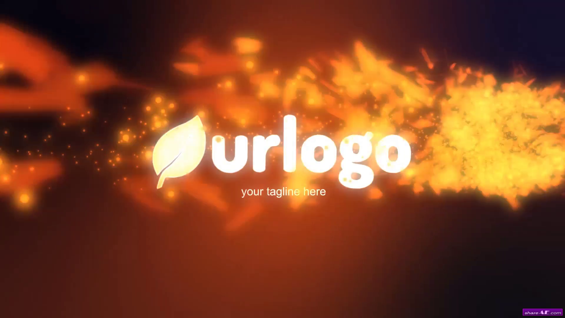Particles Fire Logo Reveal - After Effects Templates