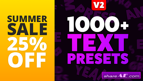 Videohive Text Preset Pack for Animation Composer v2 (With License)