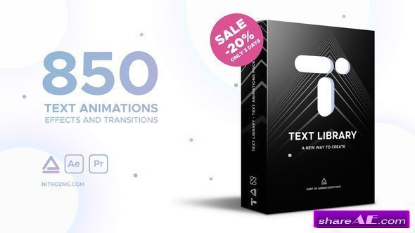 Videohive Text Library - Handy Text Animations