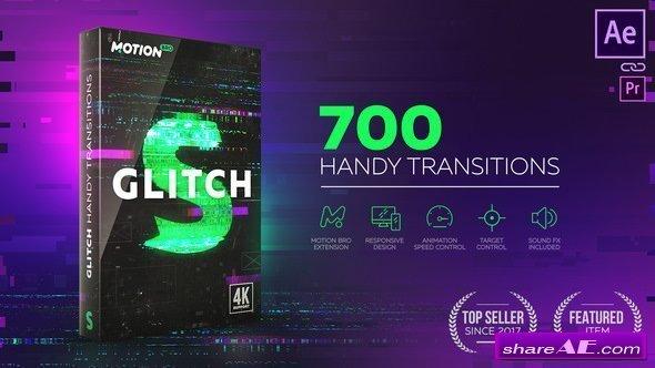 Videohive Glitch Transitions 21059280