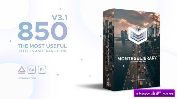 Videohive Montage Library - Most Useful Effects v3.1 with Working Panel file