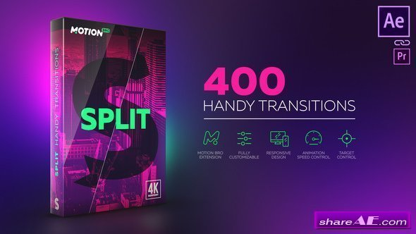 Videohive Split Handy Transitions