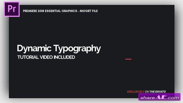 Videohive Dynamic Minimalism - Essential Graphics | Mogrt - Premiere Pro Templates