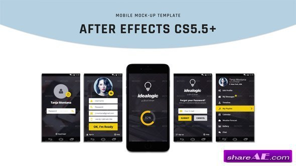 Videohive Mobile Mock-Up