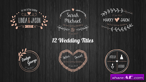 Videohive Wedding Titles 20396133
