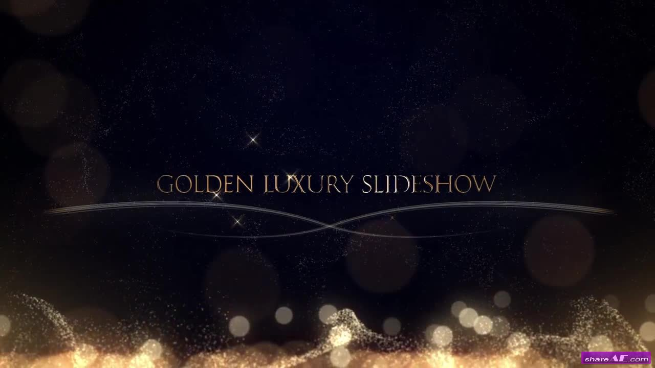 Golden Luxury Slideshow - After Effects Template (Motion Array)