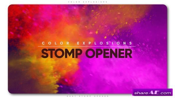 Videohive Color Explosions Stomp Opener » free after effects