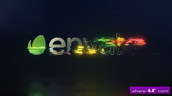 Videohive Rotating Glitch Logo