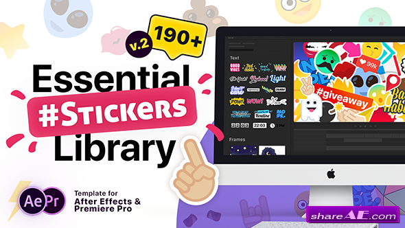 Videohive Essential Stickers Library