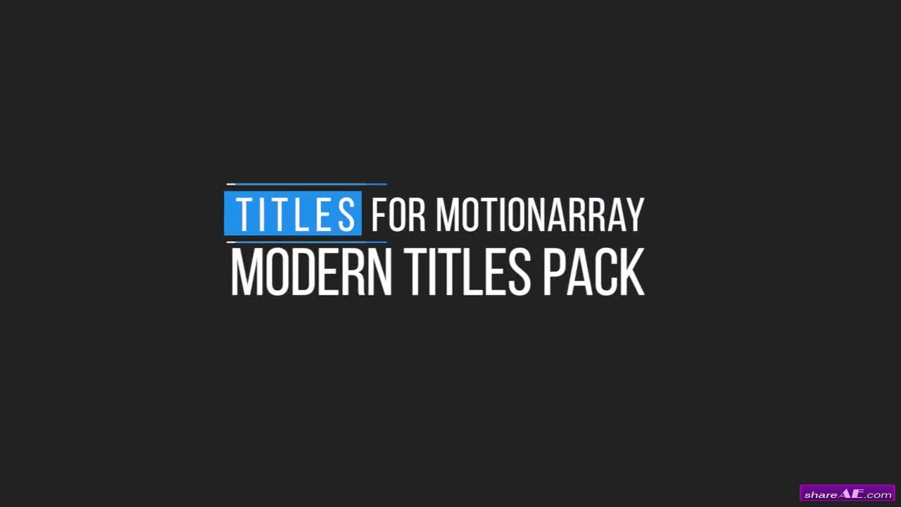 Minimal Motion Titles - Premiere Pro Templates