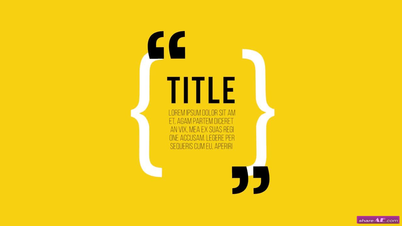 Quotes - Premiere Pro Templates » free after effects templates