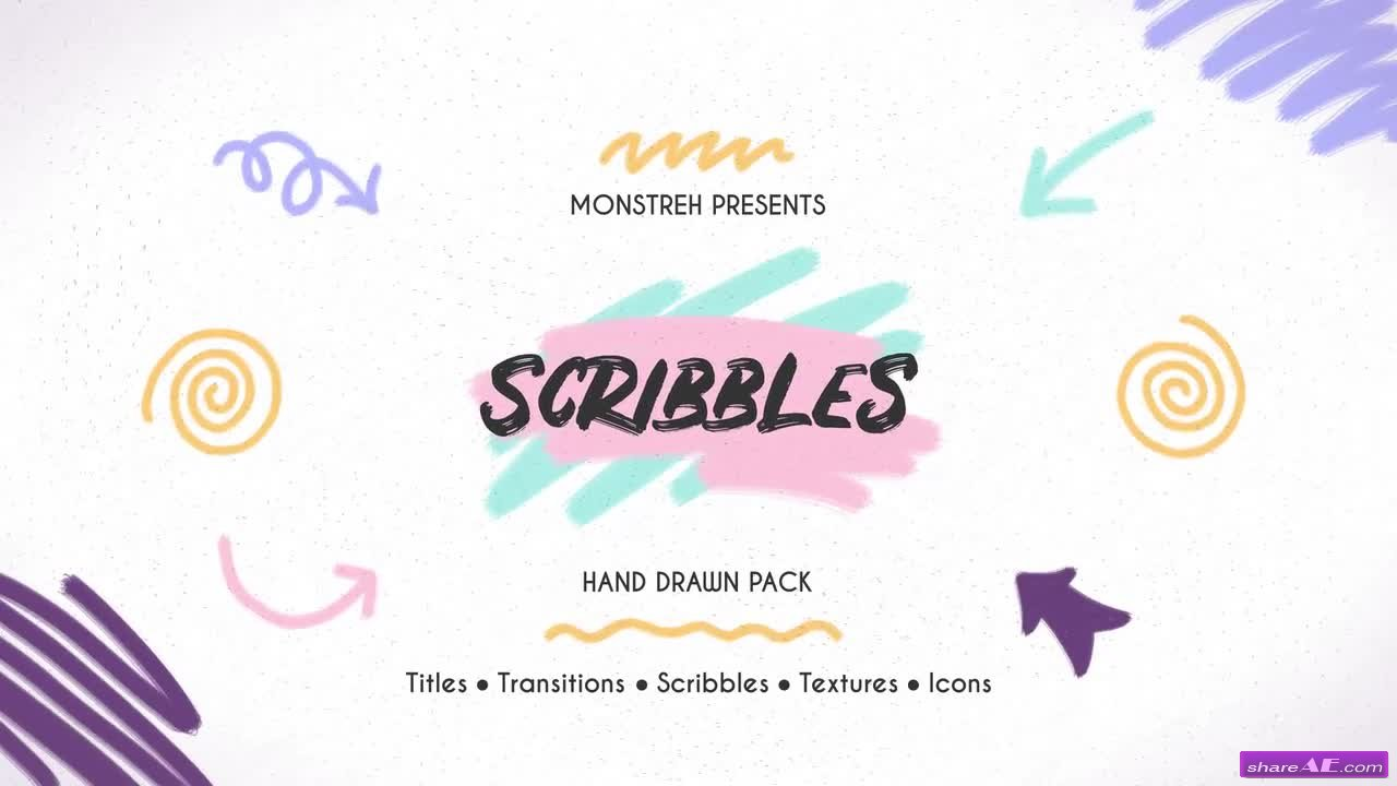 Scribbles. Hand Drawn Pack - Premiere Pro Templates