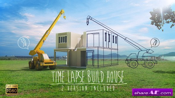 Videohive Time Lapse Build House - Stock Footage
