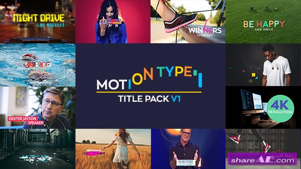 Videohive Motion Type - Titles Pack