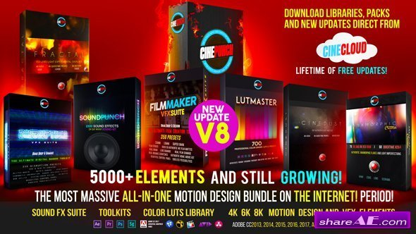 Videohive 5000+ Elements CINEPUNCH Video Creator MEGA Bundle v8.0
