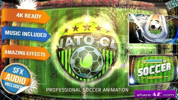 Videohive Soccer Games Championship Opener - Football Show Intro