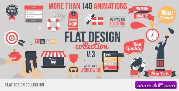 Flat Design v3 - After Effects Project (Videohive)