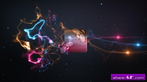 Videohive Colorful Trails Logo Intro