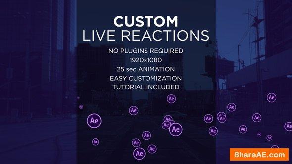Videohive Custom Live Reactions