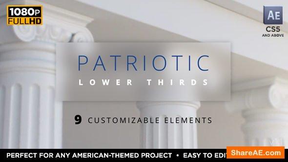 Videohive Patriotic Lower Thirds