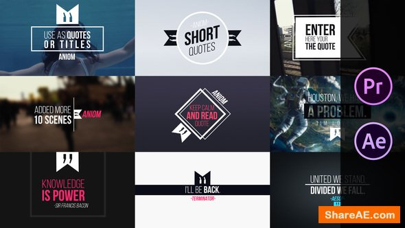 Videohive Short Quotes