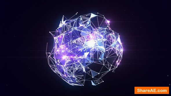 Videohive Plexus Globe Logo Reveal