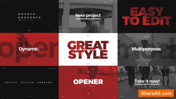 Modern Typo Opener 21867526 Videohive - Free After Effects Template