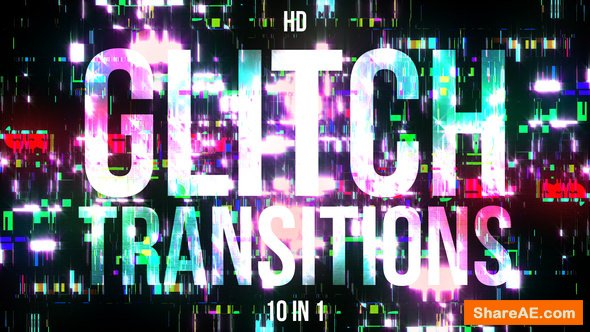Videohive Glitch Transitions - Motion Graphics