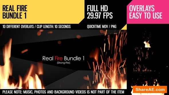 Videohive Real Fire Bundle 1 - Motion Graphics