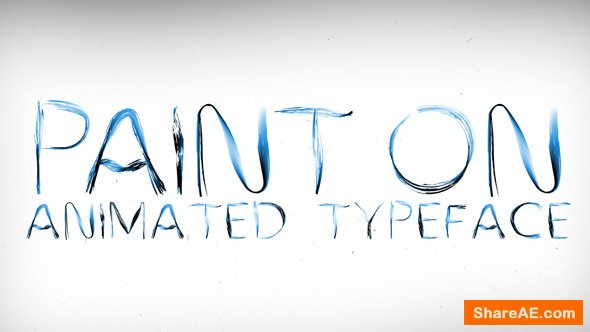 Videohive Paint On Animated Typeface