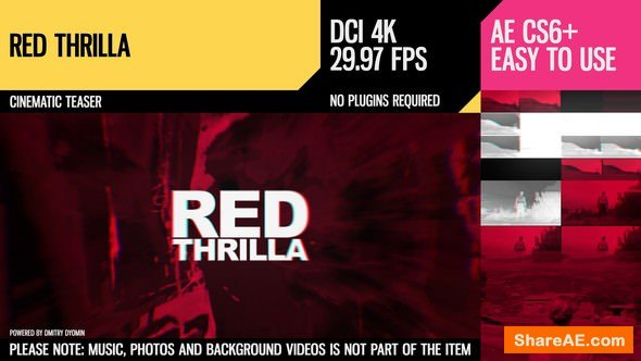 Videohive Red Thrilla (4K Cinematic Teaser)