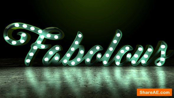 Videohive Light Bulb Sign