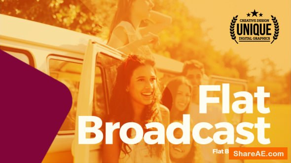 Videohive Flat Broadcast Pack
